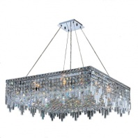 Worldwide Lighting Cascade Collection 12-Light Chrome and Crystal Chandelier